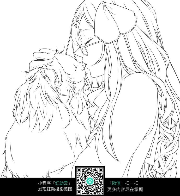 眼睛 kiss 萌宠 温馨 手绘