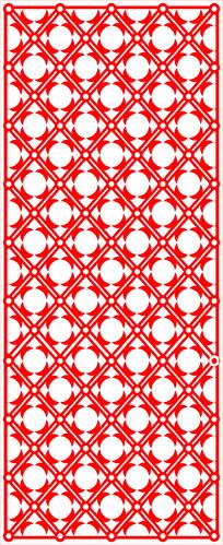 菱形图案剪纸花纹参考图