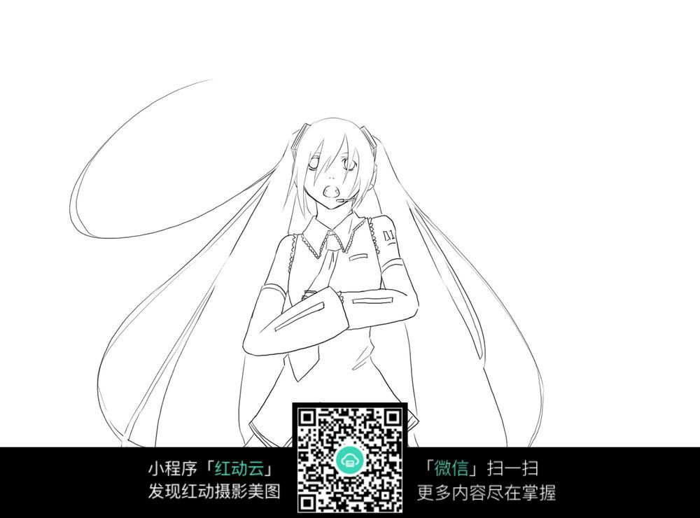 流泪的初音_人物卡通图片