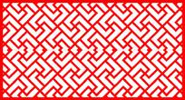 l型镂空边框剪纸图案参考