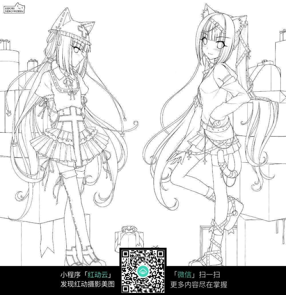 漫画女生_人物卡通图片