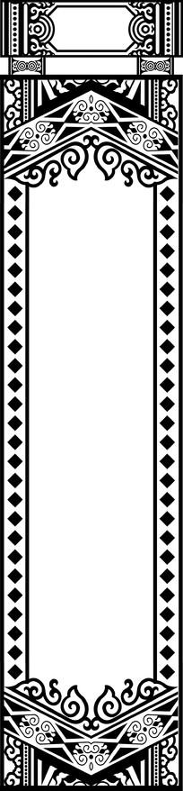 欧式长方形镂空镜框装饰