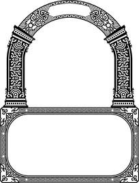 欧式镂空圆角墙壁装饰框