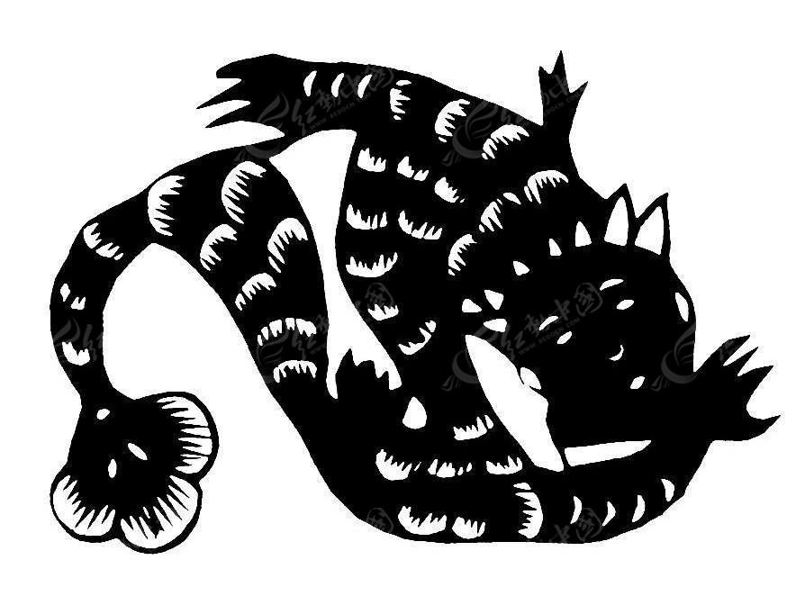 水中的美人鱼创意剪纸窗花矢量图AI素材免费下载 编号5240314 红动网