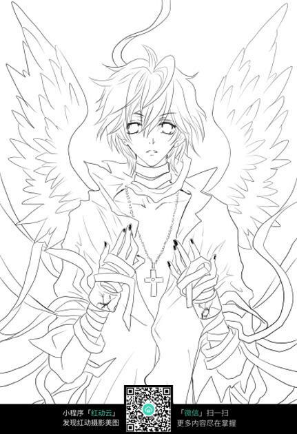 天使少年_人物卡通图片
