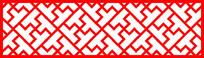 凸字形镂空边框剪纸图案参考