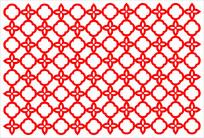 圆环花型边框剪纸造型参考
