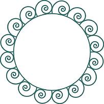 圆形镂空装饰