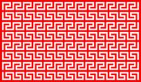 重复图形边框剪纸造型参考