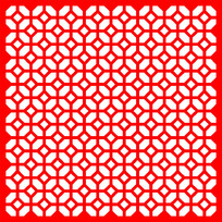 中式镂空窗框四方连续图案