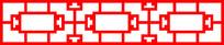 中式连续图案长方形窗框
