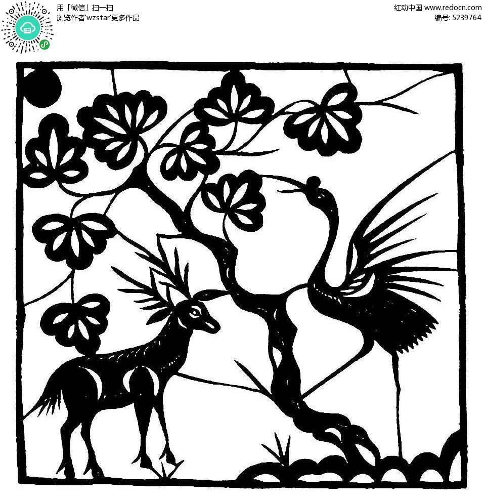 梅花鹿 树木 鲜花 自然