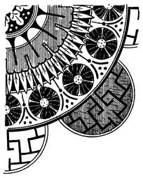 创意扇形黑白花纹矢量素材