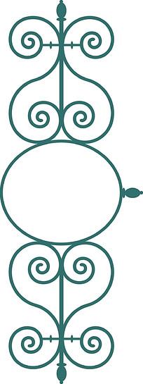 对称金属工艺雕花图案