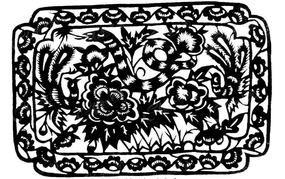 花卉剪纸图案大全简单图解