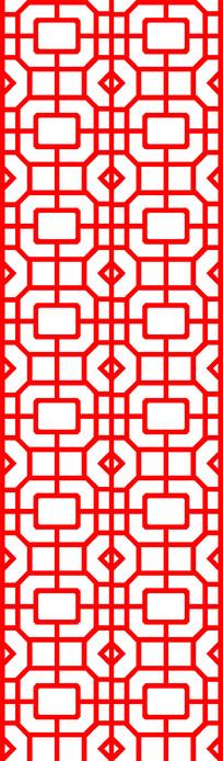 红色花格矢量图案