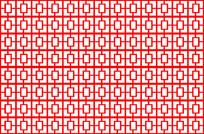 红色屏风图案
