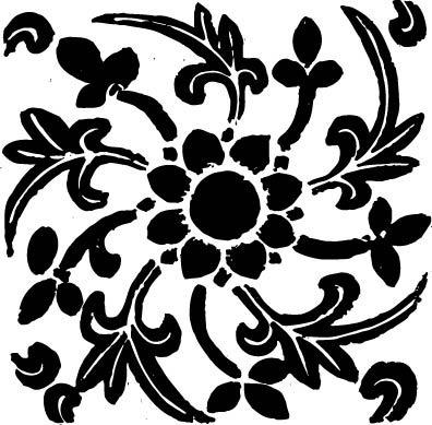 花朵旋转剪纸参考图