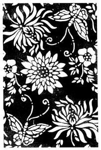 蝴蝶花朵剪纸图案图片