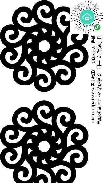 回形纹图案_回纹花形图案AI素材免费下载_红动网
