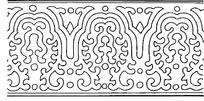 简单线条卷曲背景花纹图案
