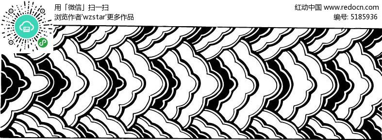 花纹 雕花 黑白 雕刻 ai素材图片