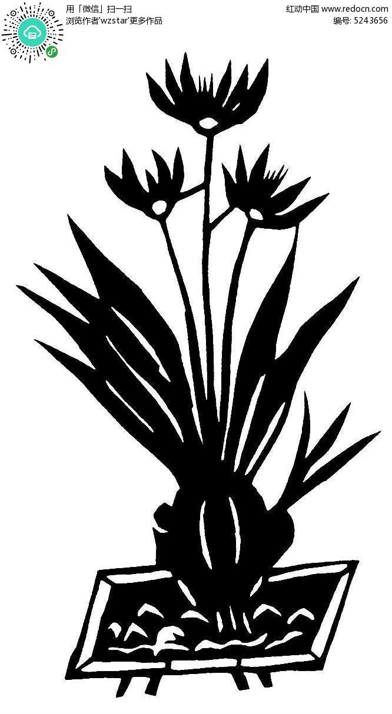 美丽的剪纸花纹AI素材免费下载 编号5243656 红动网