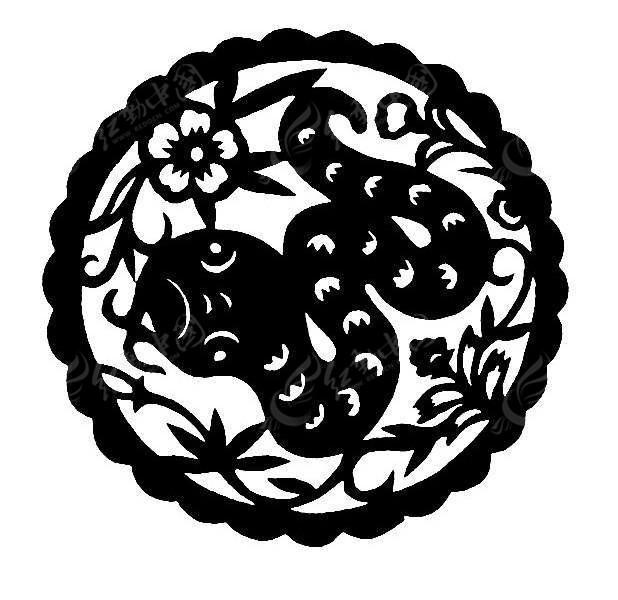 蛇花纹剪纸