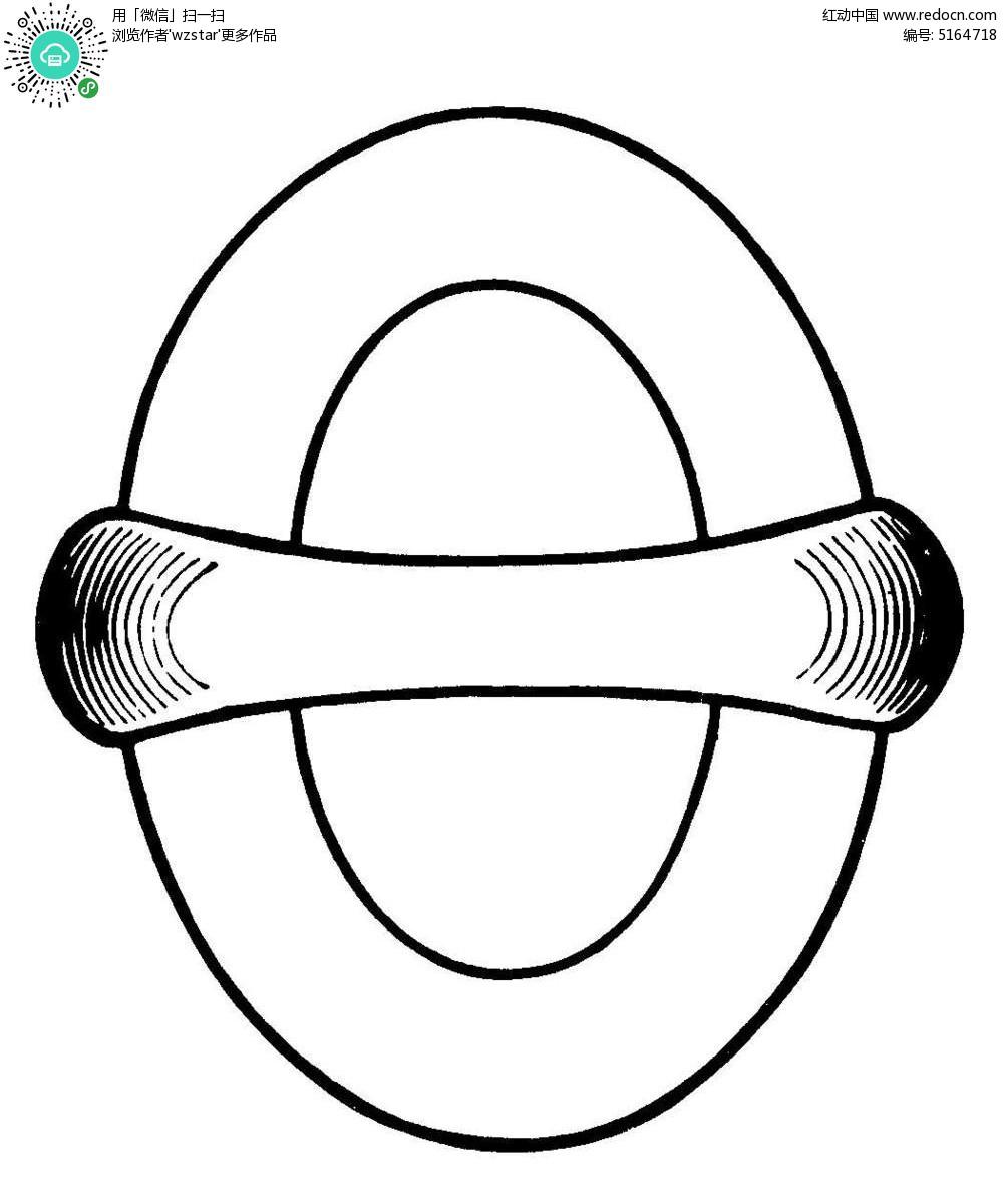 椭圆简约边框