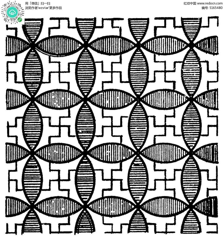 圆形万字交织镂空花纹EPS素材免费下载 编号5165480 红动网