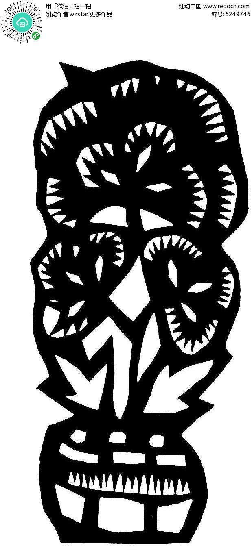 抽象盆栽图案