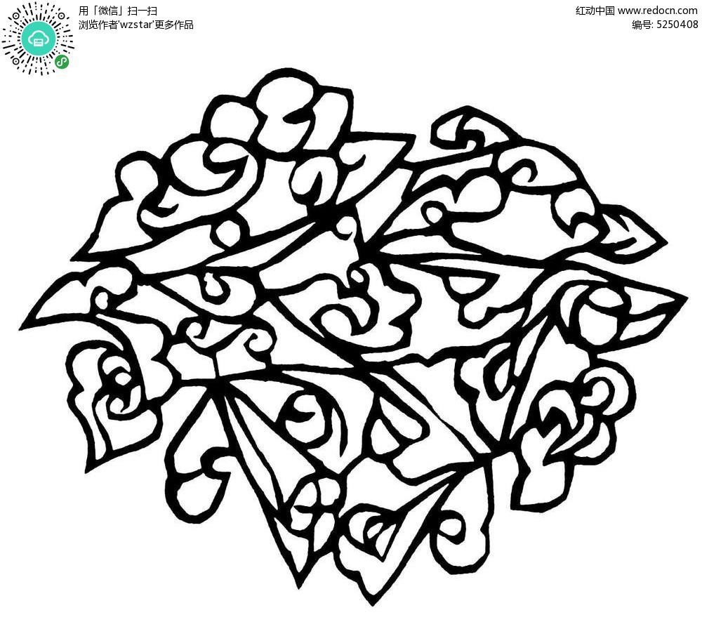 对称动物剪纸图解