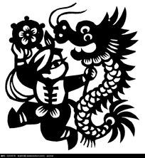 花球舞龙图案