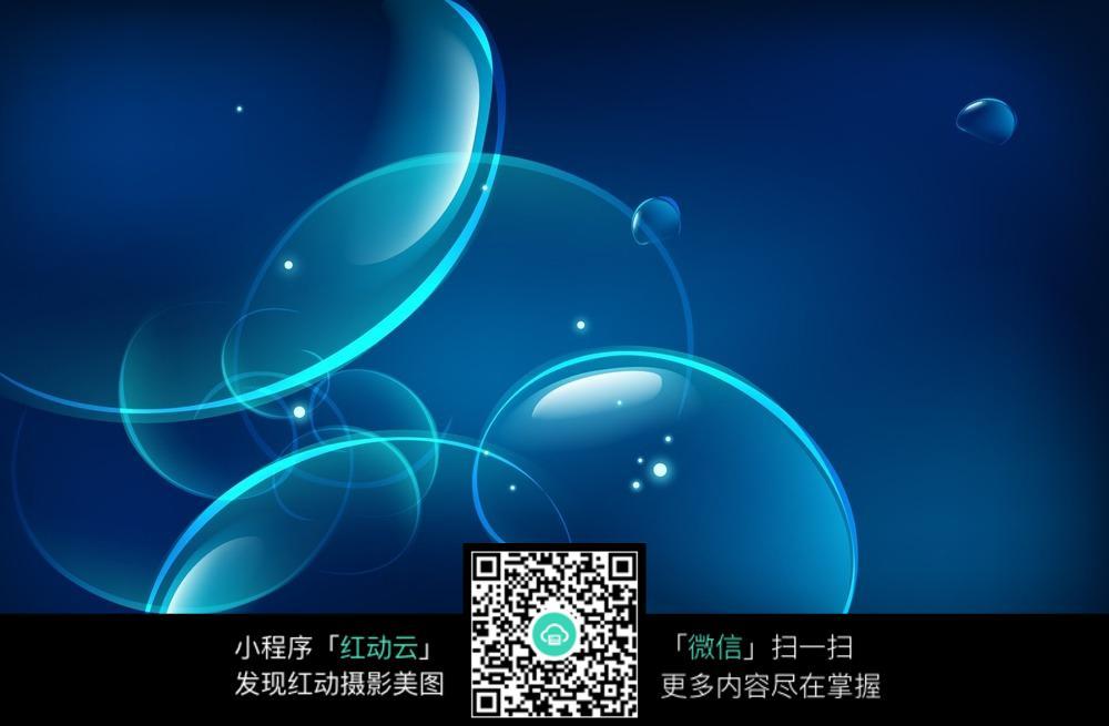 蓝色透明气泡图片素材下载