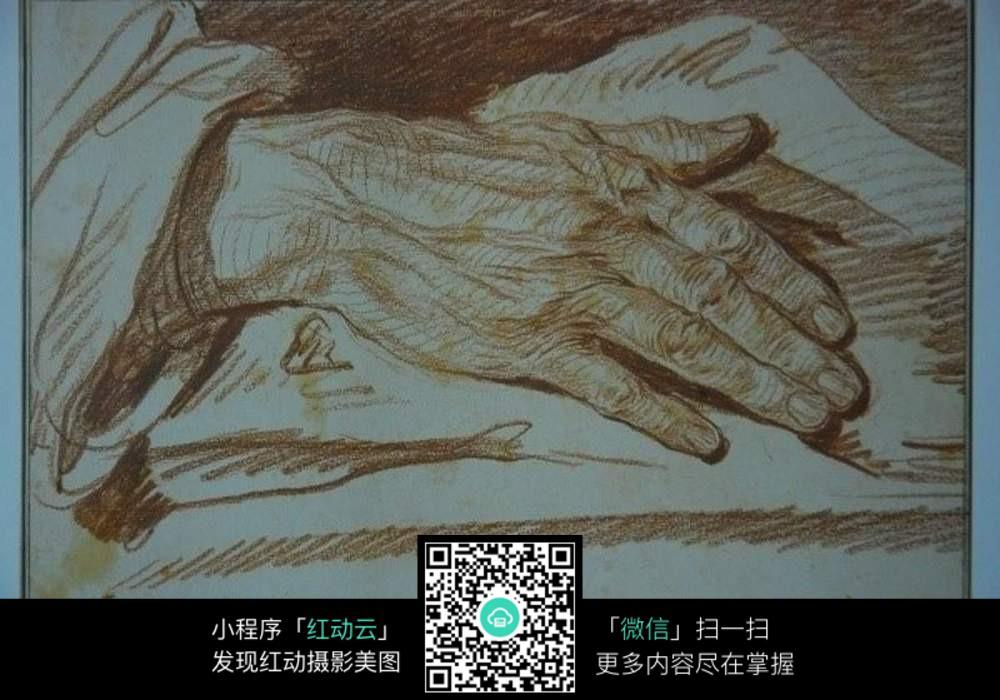 沧桑手面素描图片免费下载 编号5276784 红动网