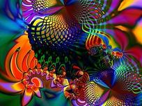 抽象色彩构成图片