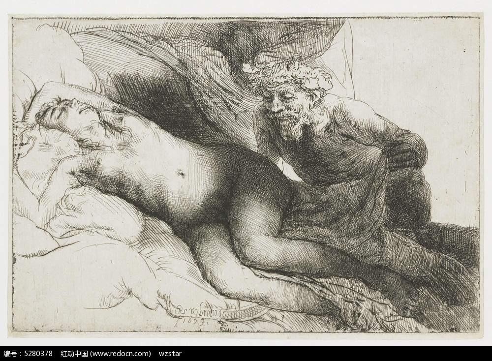 裸体艺术手绘画图片