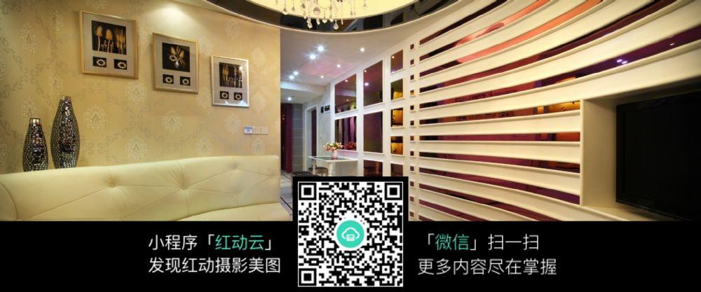 创意线条室内客厅效果图片图片