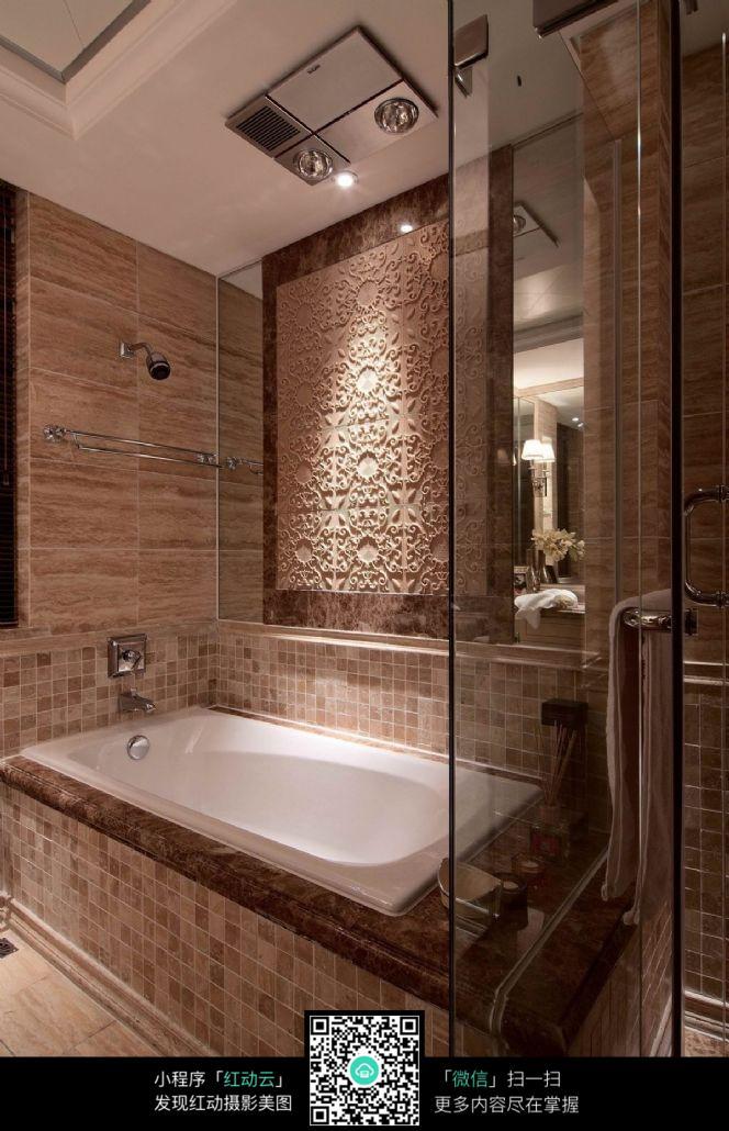 大气高端浴缸设计_室内设计图片