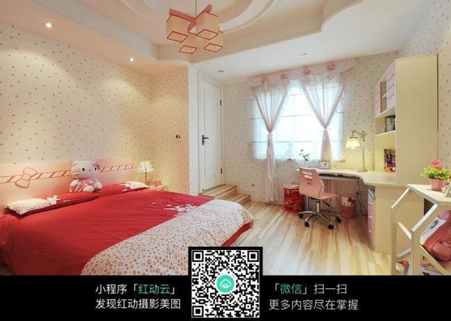 粉色温馨室内卧室效果图片
