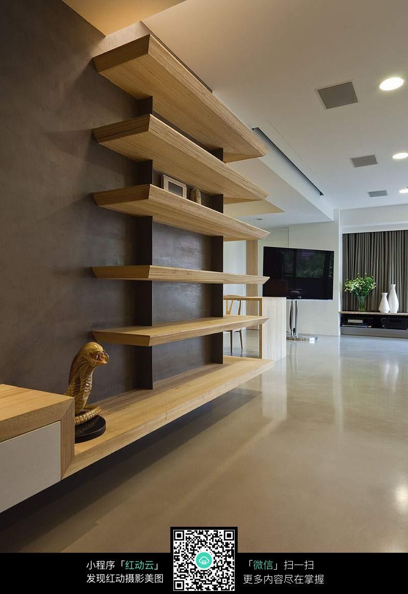 欧式风格墙壁实木架子_室内设计图片