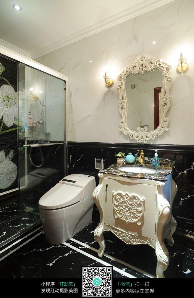 免费素材 图片素材 环境居住 室内设计 欧式风格室内洗浴房间装修效果图片