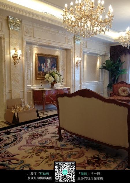 欧式古典室内大厅效果图片