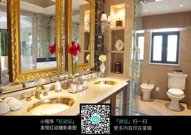 欧式华丽浴室设计_室内设计图片