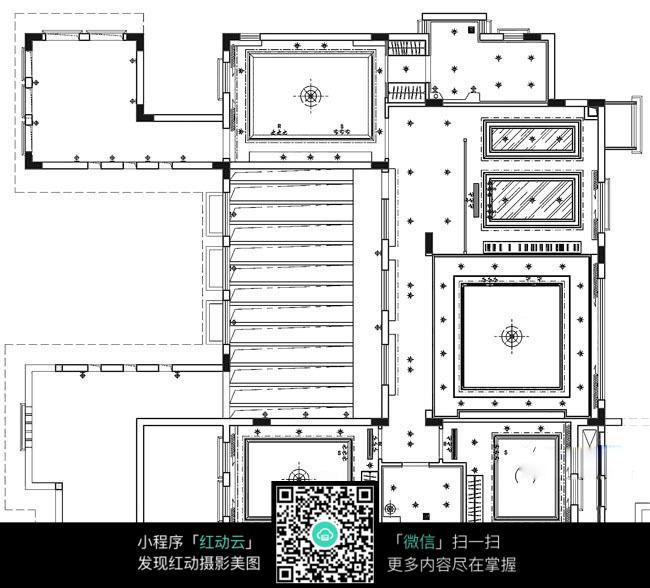 平面顶视图_室内设计图片