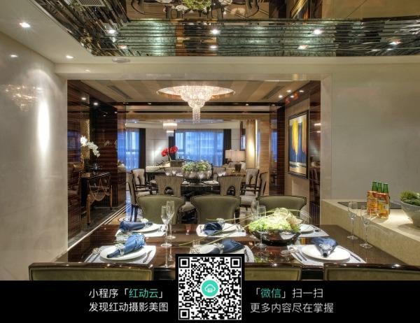 免费素材 图片素材 环境居住 室内设计 艺术情调餐厅装饰效果图