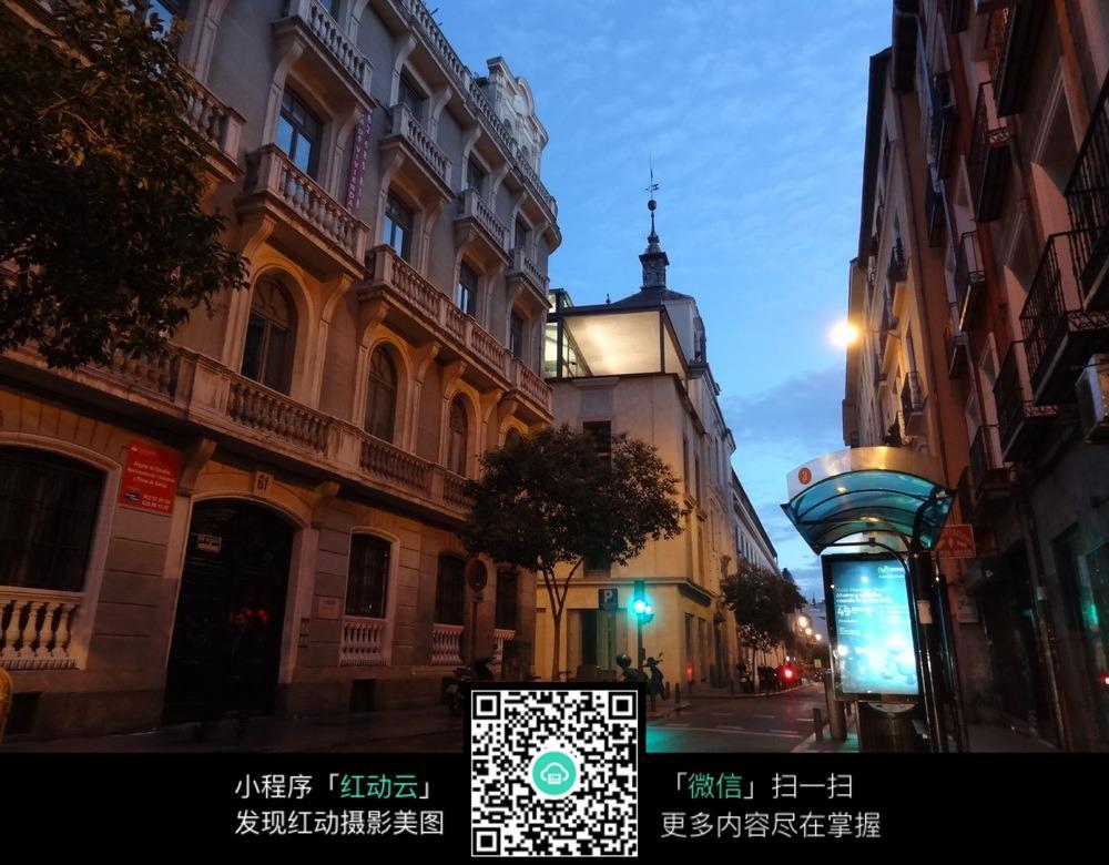 傍晚的西班牙街道图片免费下载 编号5290444 红动网图片
