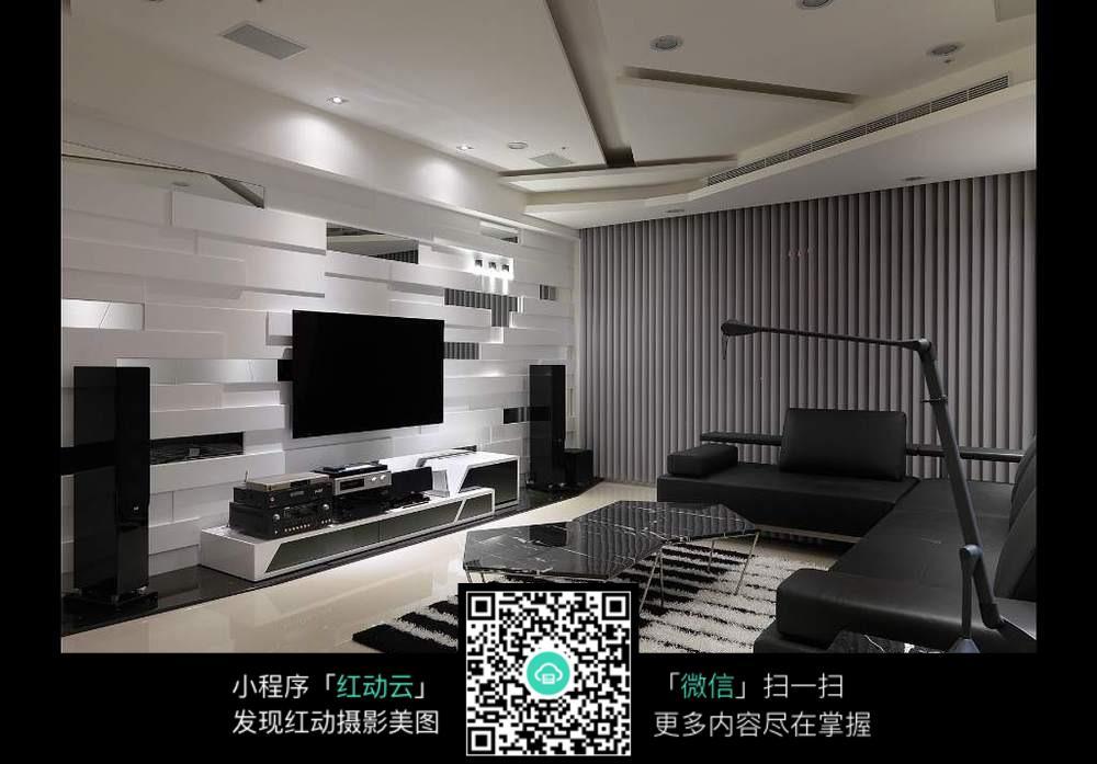 高档品质客厅装潢_室内设计图片