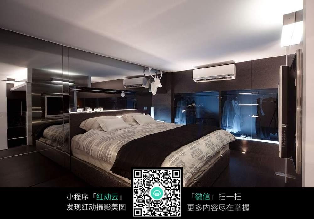 高端黑白房间图片素材