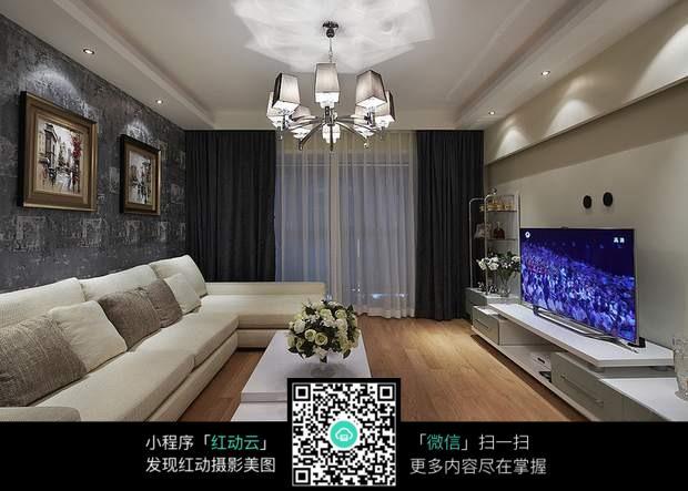 简单客厅装修效果图_室内设计图片